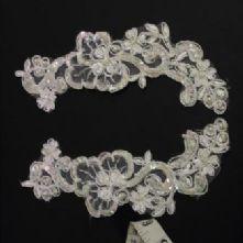 Ivory Beaded Bridal Applique